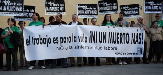 Nueva concentración en Córdoba contra la siniestralidad laboral