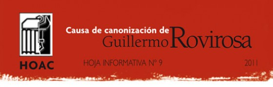 Publicada la hoja informativa nº 9 sobre la causa para la canonización de Guillermo Rovirosa