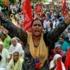 Movilización sindical en la India