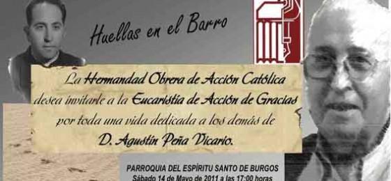 Homenaje a Agustín Peña en Burgos