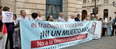 Concentración por los trabajadores fallecidos en Burgos
