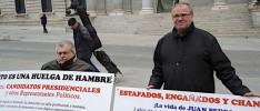 Huelga de hambre contra la estafa bancaria