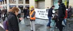 Bilbao: Solidaridad con las víctimas de accidentes laborales