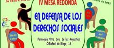 """Madrid: IV Mesa redonda """"En defensa de los derechos sociales"""""""