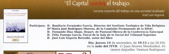 """Madrid: Presentación de """"El capital contra el trabajo"""""""
