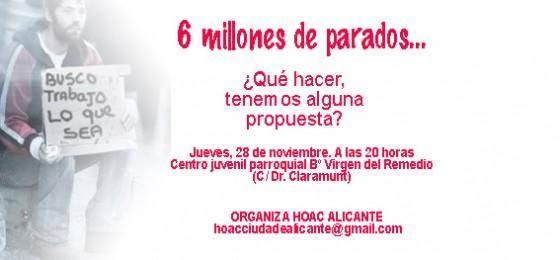 Alicante: Mesa sobre el desempleo