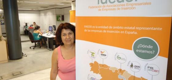 """Nieves Ramos, Presidenta de las Empresas de Inserción: """"Ante la primera dificultad no cerramos las persianas»"""