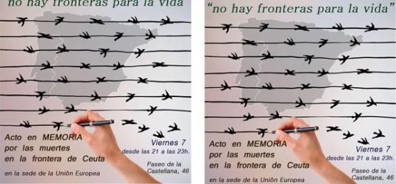 Madrid y Ceuta: Actos en memoria por las víctimas de las Fronteras