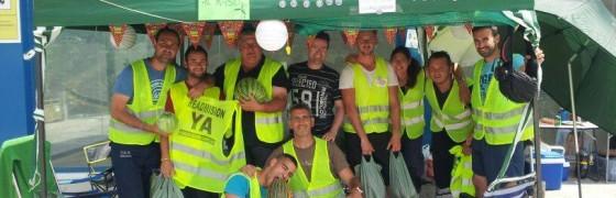 Acampada por la readmisión del personal de mantenimiento de los parques eólicos de Gamesa en Málaga