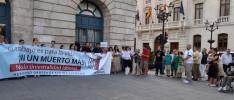 Concentración por el fallecimiento de un trabajador en Burgos