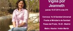 Madrid: Vigilia por Jeanneth, víctima de la exclusión sanitaria