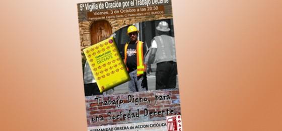Burgos: 5ª Vigilia de Oración por el Trabajo Decente