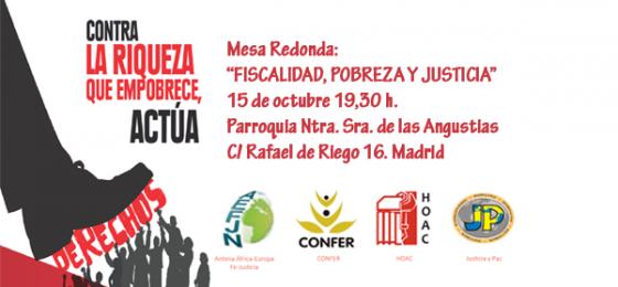 Madrid: Debate sobre «Fiscalidad, pobreza y justicia»