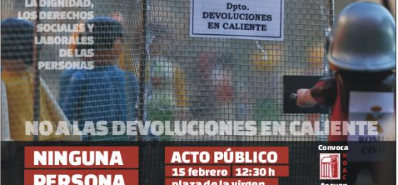 Valencia: Invitación a #defenderladignidad contra las devoluciones en caliente