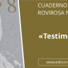 «Testimonios», nuevo Cuaderno de Rovirosa