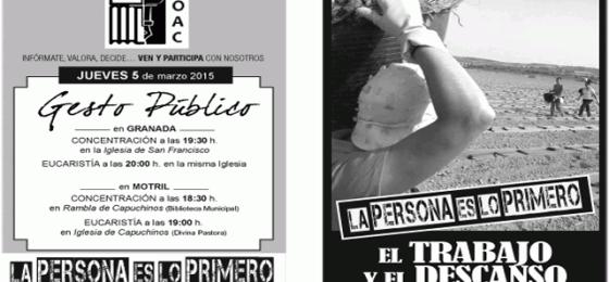 Granada: Actos públicos en defensa del Trabajo y el Descanso