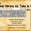 """Bilbao: Celebración 20 aniversario """"La Pastoral Obrera de toda la iglesia"""""""