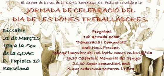 Barcelona: Debate «Democracia y comunidad» por Neus Forcano