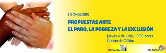 """Canarias: Propuestas ante el paro, la pobreza y la exclusión"""""""
