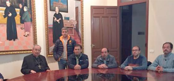 El obispo de Ciudad Real recibe a los trabajadores de Elcogas