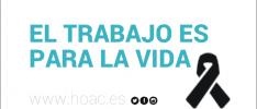 Malaga   Gesto público ante la muerte de un trabajador