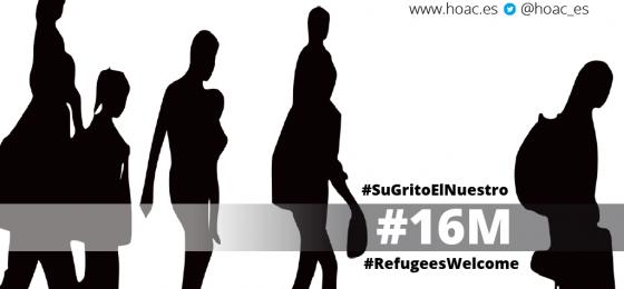 La HOAC apoya los actos convocados el 16 de marzo para defender los derechos humanos de las personas solicitantes de refugio en Europa