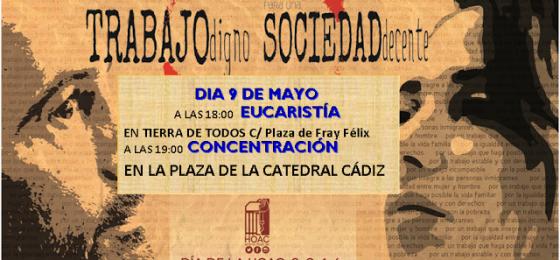 Cádiz | Eucaristía y concentración por el trabajo digno en el día de la HOAC