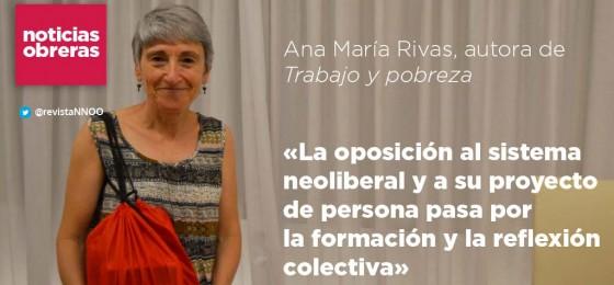 Ana María Rivas, autora de «Trabajo y pobreza»
