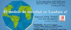 Madrid: El modelo de sociedad en Laudato si'