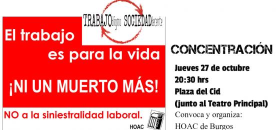 Burgos: Concentración ante la muerte de dos trabajadores