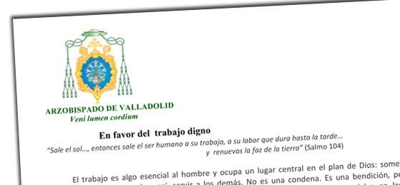 Carta pastoral del Obispo de Valladolid: En favor del trabajo digno