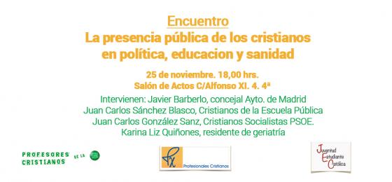 Madrid: La presencia pública de los cristianos
