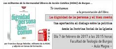 Burgos: Presentación del libro <em>La dignidad de la persona y el bien común</em>