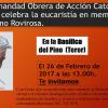 Canarias: Eucaristía de Acción de Gracias por Rovirosa