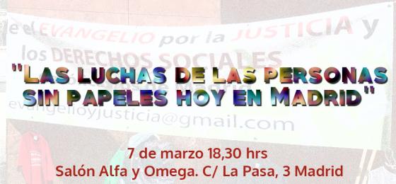 """Madrid: """"Las luchas de las personas sin papeles hoy en Madrid"""""""