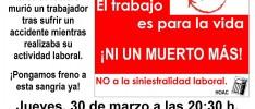 Burgos: Concentración contra la siniestralidad laboral