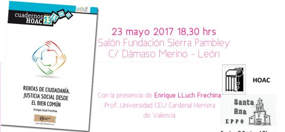 """León: Presentación con el autor de """"Rentas de Ciudadanía"""""""