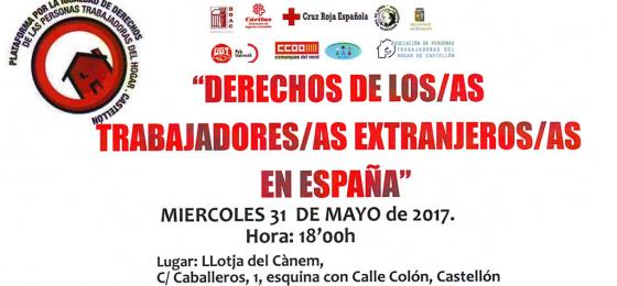 """Segorbe-Castellón: """"Derechos de los trabajadores y trabajadoras extranjeros en España"""""""