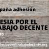 Campaña de adhesiones a la iniciativa Iglesia por el Trabajo Decente #MásITD