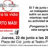Burgos: Concentración ante la muerte de un trabajador