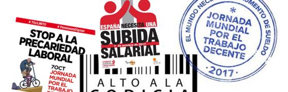 Los sindicatos piden mejores empleos en la Jornada Mundial del Trabajo Decente