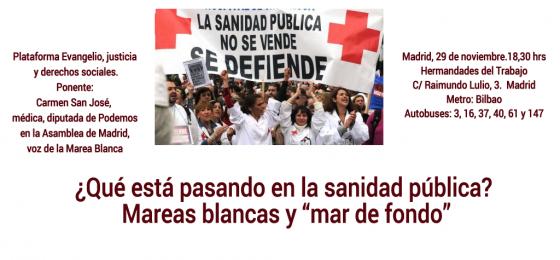 """Madrid    """"¿Qué está pasando en la sanidad pública? Mareas blancas y """"mar de fondo"""""""