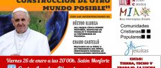 Alicante | El papa Francisco y la construcción de otro mundo posible: #TierraTechoTrabajo