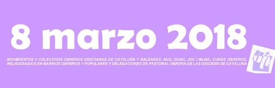 Cataluña | La Pastoral Obrera se suma a la huelga del 8 de marzo