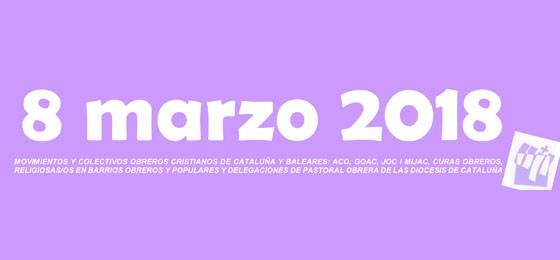 Cataluña   La Pastoral Obrera se suma a la huelga del 8 de marzo