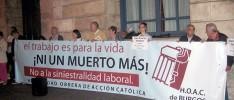 Burgos | Concentración contra los accidentes de trabajo
