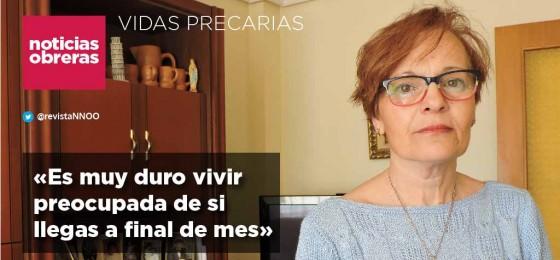 Trabajadora de ayuda a domicilio: «Es muy duro vivir preocupada de si llegas a final de mes»