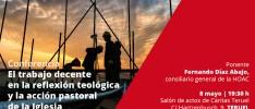 Teruel | Conferencia «El trabajo decente en la reflexión teológica y la acción pastoral de la Iglesia»