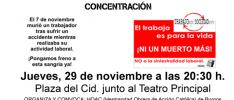 Burgos | Concentración por el último accidente de trabajo mortal