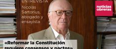 Nicolás Sartorius: «Reformar la Constitución requiere consensos y pactos»